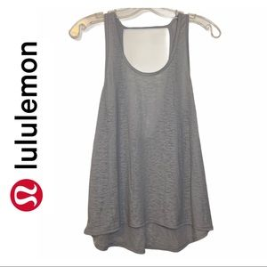 Lululemon Grey Scoop Neck Tank Top